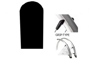 Błotniki 26 Orion 53mm kpl. czarne 861